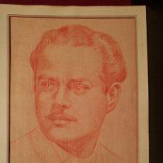 Arte: RETRATO MASCULINO. CIRCA 1940.. Lote 241222035