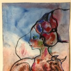 Arte: TORNER DE SEMIR DIBUJO ORIGINAL SOBRE PAPEL. Lote 241298980