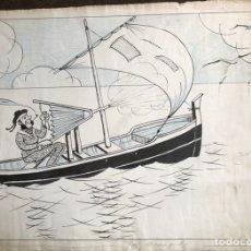Arte: DIBUJO ORIGINAL CÓMIC A TINTA DE NIT (JUAN MACIAS) - AÑOS 30 PARA INVENTOS DEL TBO. Lote 241383010