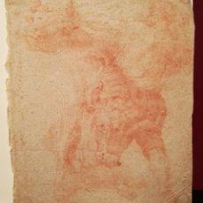 Arte: HÉRCULES Y EL TORO ATRIBUIDO A LORENZO MATTIELLI (1688-1748). Lote 241417525