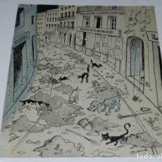 Arte: DIBUJO A PLUMA ORIGINAL,PICAROL PUBLICADO L'ESQUELLA DE LA TORRATXA Nº 1755- ANY 1912 AGOST. Lote 242299095