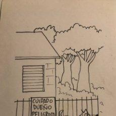Arte: TOM ROCA, DIBUJO ORIGINAL CÓMIC. Lote 243075550