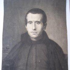 Arte: EXCELENTE DIBUJO DE JAIME BALMES AUTOR JOSEP PUIG ---- PARTE DE ATRAS CARTEL FERIAS FIESTAS LERIDA. Lote 243178205