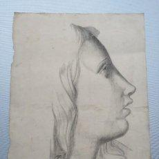 Arte: DIBUJO ORIGINAL FIRMADO SALVADOR SAGREDO SIGLO XIX. Lote 244019065