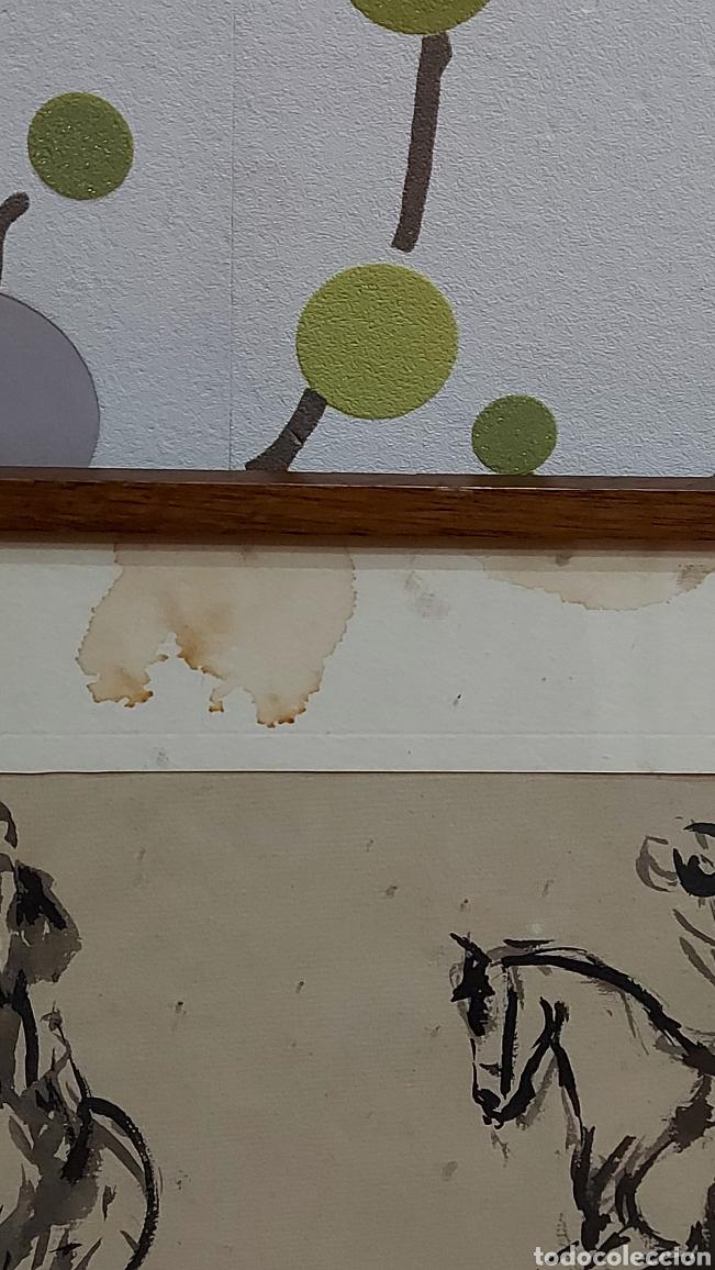 Arte: Dibujo hecho a mano Jinetes, Caballo Tauromàquia? . Cuadro Tamaño dibujo 61 x 20 cm aprox - Foto 6 - 244575870