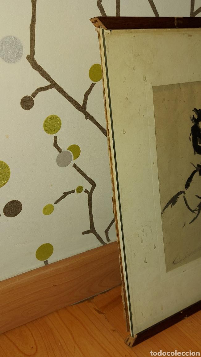 Arte: Dibujo hecho a mano Jinetes, Caballo Tauromàquia? . Cuadro Tamaño dibujo 61 x 20 cm aprox - Foto 7 - 244575870