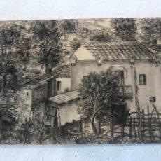 Arte: DIBUJO A LÁPIZ Y CARBÓN 1950'S. DESCONOCEMOS AUTOR.. Lote 244645880