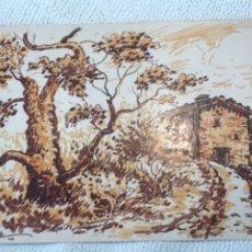 Arte: DIBUJO A TINTA FIRMADO 1970'S. PAISAJE.. Lote 244648500