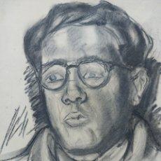 Arte: RETRATO AL NATURAL PERSONAJE 1945. Lote 244649200