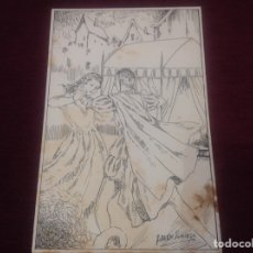 Arte: DIBUJO A PLUMILLA DE ROBERTO DOMINGO. Lote 244712945