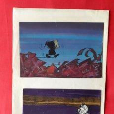 Arte: 12 DIBUJOS ORIGINALES EN TINTA Y ACUARELA SOBRE CARTULINA BLANCA MONTADOS SOBRE PAPEL DIN4. COMIC. A. Lote 244731500
