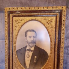 Arte: RETRATO AL CARBONCILLO FIRMADO Y FECHADO POR J.CARRANZA EN 1896. Lote 244740900