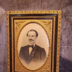 Arte: RETRATO AL CARBONCILLO FIRMADO Y FECHADO POR J.CARRANZA EN 1896. Lote 244741325