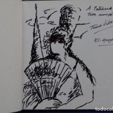 Arte: DIBUJO DE TERESA VILLARRUBIAS EN LIBRO. 2001.. Lote 244849330
