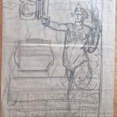 Arte: JOSÉ SEGRELLES. BOCETO ORIGINAL PUBLICIDAD ELECTRA INDUSTRIAL SA TARRASA TERRASSA BARCELONA. AÑOS 20. Lote 244988800