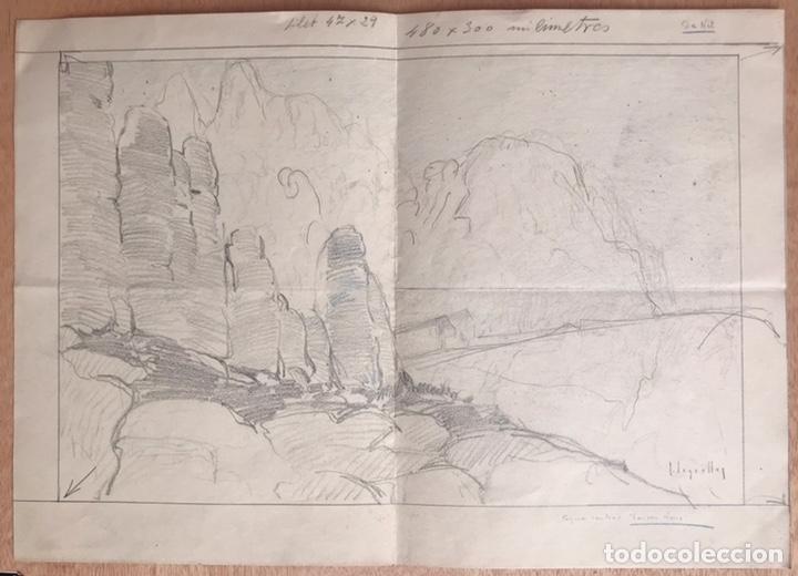 JOSÉ SEGRELLES. BOCETO ORIGINAL PUBLICIDAD PÁGINA CENTRAL DE LONDON NEWS. AÑOS 20 (Arte - Dibujos - Modernos siglo XIX)