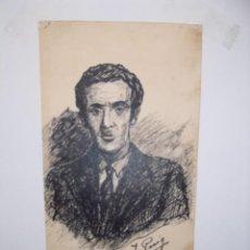 Arte: DIBUJO A LA PLUMA DEL AUTOR DE LA OBRA J. PUIG FECHADO 29- 5 -1933. Lote 245177315