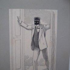 Arte: DIBUJO DE ILUSTRACION DE ALGUN LIBRO- NOVELA. Lote 245178435