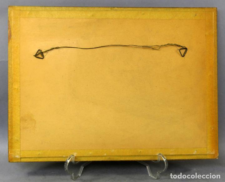 Arte: Retratos manolas dibujo a plumilla sobre papel Antonio Casero Sanz firmada años 60 - Foto 5 - 245549440
