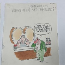 Art: DIBUJO ORIGINAL DE OLI PUBLICADO EN EL JUEVES. Lote 245635715