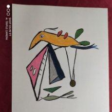 Arte: DIBUJO ORIGINAL A TINTA CHINA. PASTEL. FIRMADO. O. JUNYENT. Lote 245736150