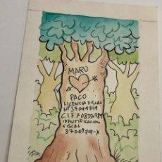 Arte: ORIGINAL DE TOM, TINTA Y A COLOR CÓMIC. Lote 246098395