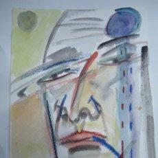 Arte: CROMA MIGUEL SERRANO CROMA TÉCNICA MIXTA CABEZA DE MARIÑEIRO FIRMADO Y FECHADO EN 2015 PRECIOSO DIBU. Lote 246111530