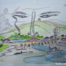 Arte: CROMA MIGUEL SERRANO CROMA TÉCNICA MIXTA LA MAGIA DEL EUME FIRMADO Y FECHADO EN 2016 PRECIOSO DIBUJ. Lote 246111995