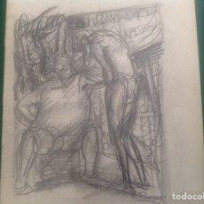 Arte: DIBUJO DE PEDRO FLORES. MURCIA 1897. PARÍS 1967. Lote 246134740