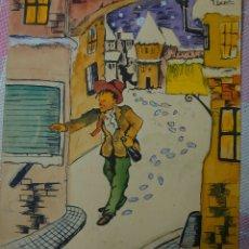 Arte: JAIME TIXE DIBUJO ORIGINAL PARA PORTADA DE LIBRO 16 X 18 CTMS.... Lote 246181825