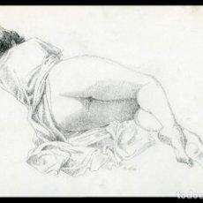 Arte: CELEDONIO PERELLÓN. DIBUJO ORIGINAL CON GRAFITO SOBRE CARTULINA. FIRMADO. Lote 246468065