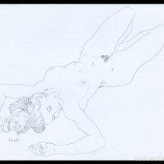 Arte: CELEDONIO PERELLÓN. DIBUJO ORIGINAL CON GRAFITO SOBRE PAPEL. FIRMADO. Lote 246531425