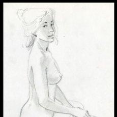 Arte: CELEDONIO PERELLÓN. DIBUJO ORIGINAL CON GRAFITO SOBRE PAPEL. FIRMADO. Lote 246670010