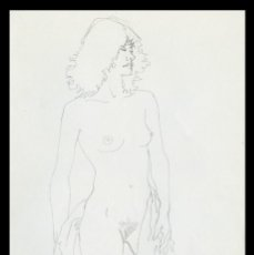 Arte: CELEDONIO PERELLÓN. DIBUJO ORIGINAL CON GRAFITO SOBRE PAPEL. FIRMADO. Lote 246673315