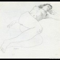 Arte: CELEDONIO PERELLÓN. DIBUJO ORIGINAL CON GRAFITO SOBRE PAPEL. FIRMADO. Lote 246743165