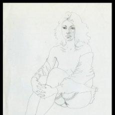 Arte: CELEDONIO PERELLÓN. DIBUJO ORIGINAL CON GRAFITO SOBRE PAPEL. FIRMADO. Lote 246745025