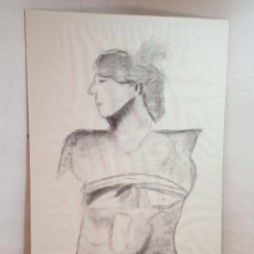 Arte: 96 CM - VENUS - INTERESANTE DIBUJO ANTIGUO A CARBONCILLO - FIRMADO - GRANDES DIMENSIONES. Lote 246785645
