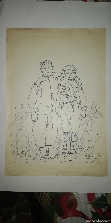 DIBUJO B. PALENCIA (Arte - Dibujos - Contemporáneos siglo XX)