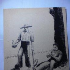 Arte: MAGNIFICO ANTIGUO DIBUJO ORIGINAL ENTRE LOS AÑOS 1920-1930 FIRMADO. Lote 247003185
