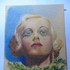 Arte: MAGNIFICO ANTIGUO DIBUJO FIRMADO SOL-GAR SOBRE LOS AÑOS 1930. Lote 247007445