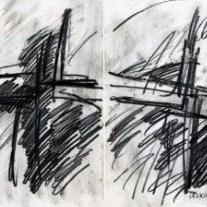 Arte: JORDI TEIXIDOR - TINTA Y CARBONCILLO SOBRE PAPEL - FIRMADO, FECHADO Y ENMARCADO. Lote 247335425