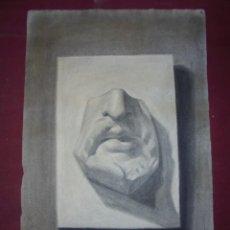 Arte: MAGNIFICO ANTIGUO DIBUJO ESCUELA CATALANA A CARBONCILLO FIRMADO Y FECHADO 1919. Lote 247357670
