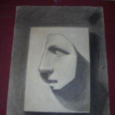 Arte: MAGNIFICO ANTIGUO DIBUJO ESCUELA CATALANA A CARBONCILLO FIRMADO Y FECHADO 1919. Lote 247357905