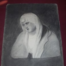 Arte: MAGNIFICO ANTIGUO DIBUJO ESCUELA CATALANA A CARBONCILLO FIRMADO Y FECHADO 1920. Lote 247358790