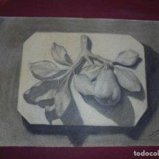 Arte: MAGNIFICO ANTIGUO DIBUJO ESCUELA CATALANA A CARBONCILLO FIRMADO Y FECHADO 1919. Lote 247359260