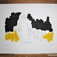 Arte: OBRA ORIGINAL DE PEDRO SOBRADO FIRMADA Y TITULADA A ROTRING HOMENAJE A CHARLIE RIVEL. Lote 247603775