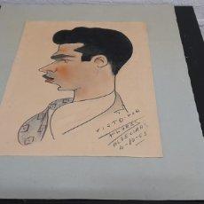 Arte: RETRATO MASCULINO A LAPIZ - VISTO POR FLORES - ALGELIRAS. Lote 248105395