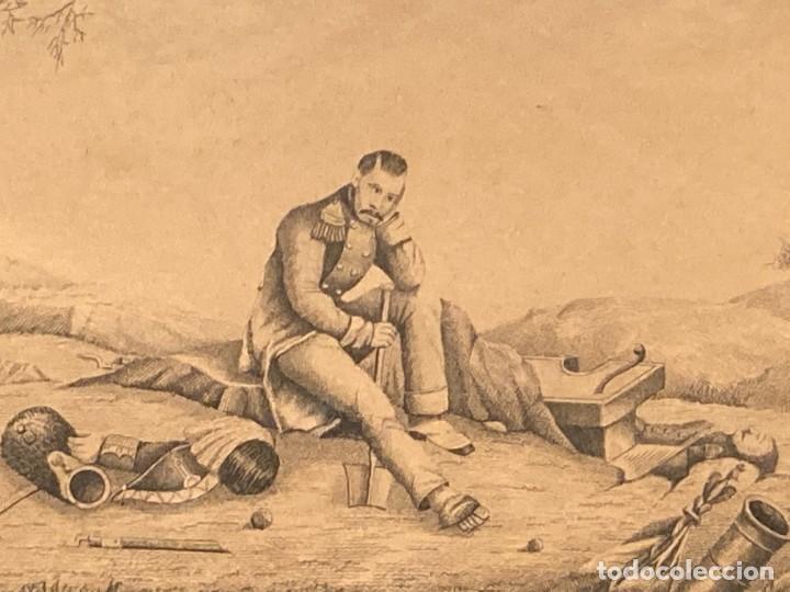 Arte: Aprest d`Waterloo. Al Escmo Sor Don José Mª Vasallo. Capitán Gral de Galicia, por José Portal 1857 - Foto 4 - 248491390