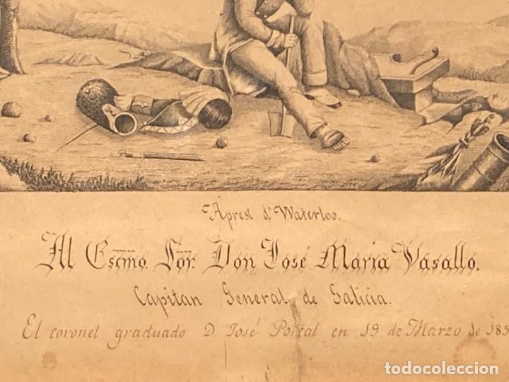 Arte: Aprest d`Waterloo. Al Escmo Sor Don José Mª Vasallo. Capitán Gral de Galicia, por José Portal 1857 - Foto 5 - 248491390