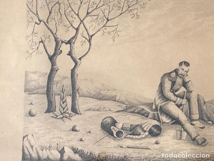 Arte: Aprest d`Waterloo. Al Escmo Sor Don José Mª Vasallo. Capitán Gral de Galicia, por José Portal 1857 - Foto 12 - 248491390